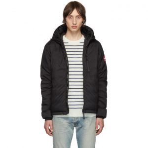 Canada Goose Black Down Lodge Hooded Jacket