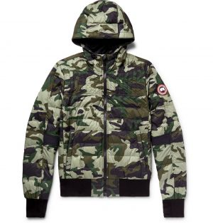 Canada Goose - Cabri Slim-Fit Camouflage-Print Quilted Nylon-Ripstop Hooded Down Jacket - Men - Green