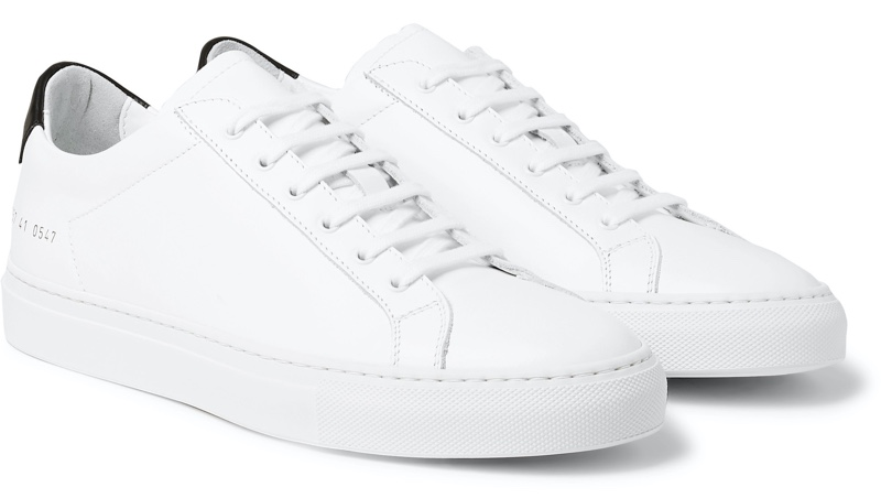 Common Projects White Achilles Retro Leather Sneakers