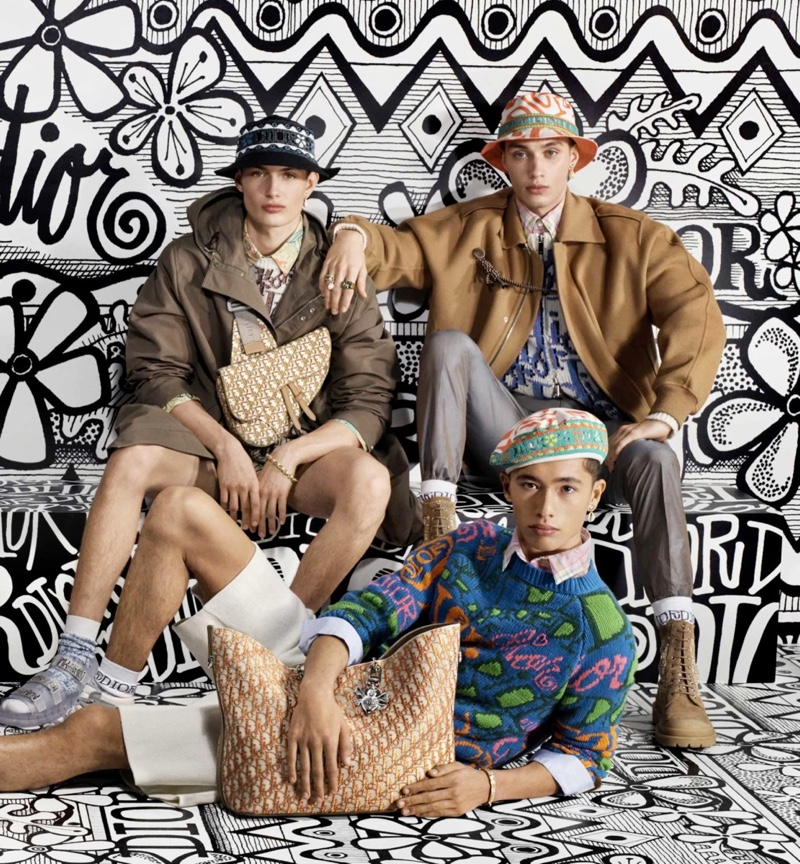 Models Thatcher Thornton, Max Wechter, and Issa Naciri come together as the stars of Dior Men's pre-fall 2020 campaign.