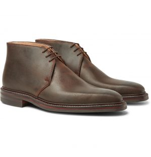 George Cleverley - Nathan Distressed Leather Chukka Boots - Men - Brown