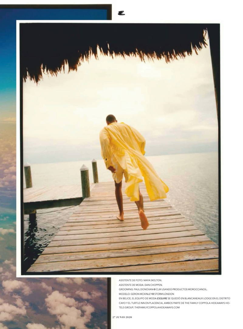Geron Makes a Case for Tropical Style in Esquire México
