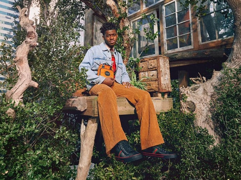 Lil Nas X stars in Gucci's Off the Grid campaign.