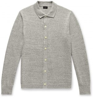 J.Crew - Mélange Cotton and Wool-Blend Cardigan - Men - Gray