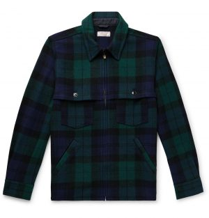 J.Crew - Wallace & Barnes Checked Wool-Blend Jacket - Men - Green