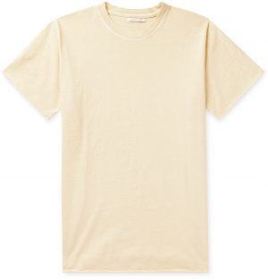 John Elliott - Anti Expo Slub Cotton-Jersey T-Shirt - Men - Yellow