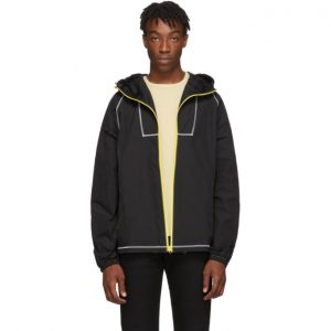 John Elliott Black High Shrunk Full Zip Jacket