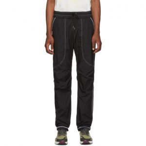 John Elliott Black High Shrunk Nylon Trenton Lounge Pants