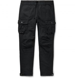 John Elliott - Black Panorama Slim-Fit Cotton-Ripstop Cargo Trousers - Men - Black