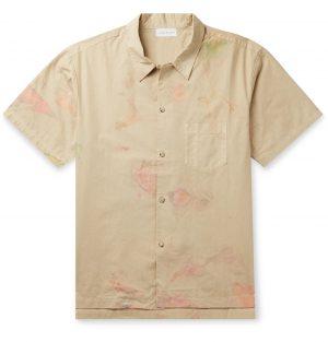 John Elliott - Camp-Collar Tie-Dyed Cotton Shirt - Men - Neutrals