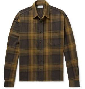 John Elliott - Checked Cotton-Flannel Shirt - Men - Brown