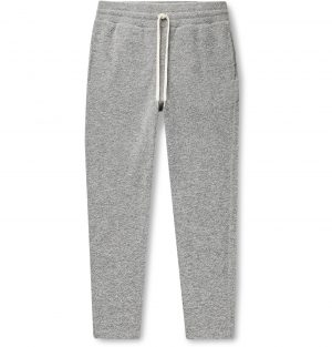John Elliott - Ebisu Slim-Fit Tapered Bouclé Sweatpants - Men - Gray