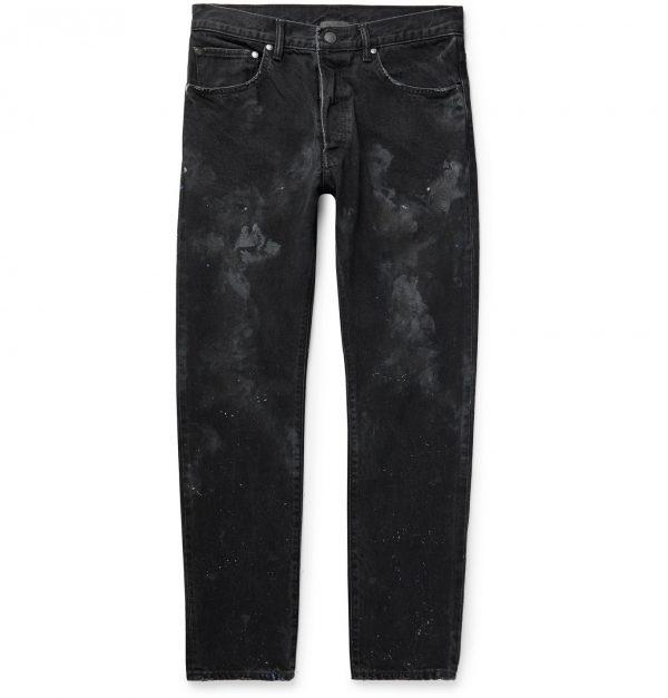 John Elliott - Kane 2 Paint-Splattered Distressed Denim Jeans - Men - Black