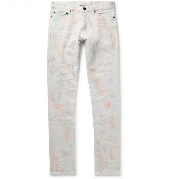 John Elliott - The Cast 2 Skinny-Fit Tie-Dyed Denim Jeans - Men - White