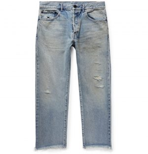 John Elliott - The Kane 2 Cropped Distressed Denim Jeans - Men - Blue