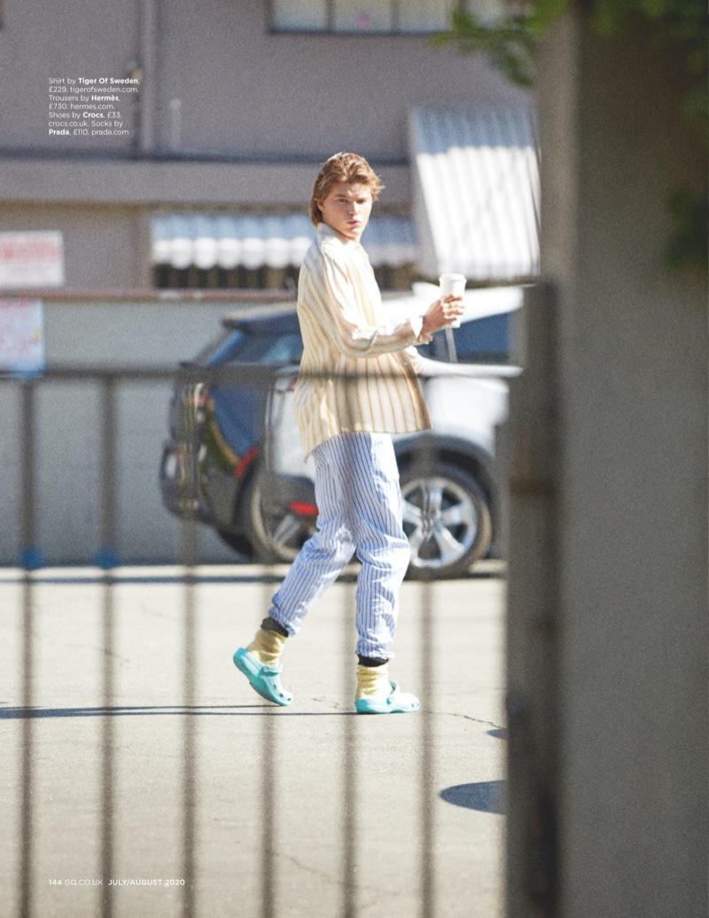 Jordan Rocks Off-Duty Style as Justin Bieber for British GQ