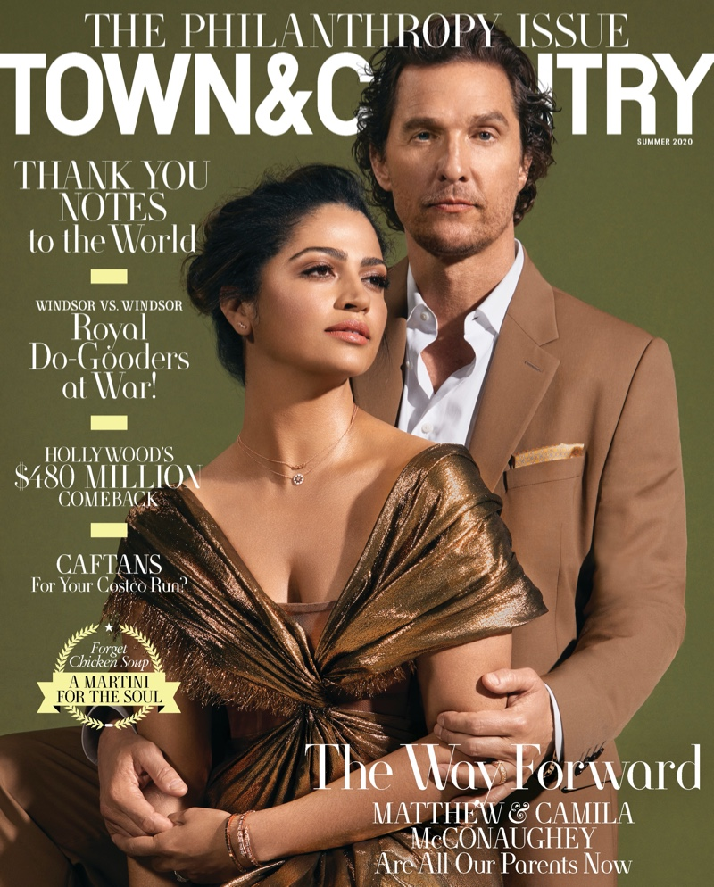 Camila Alves and Matthew McConaughey cover Town & Country's annual Philanthropy issue.