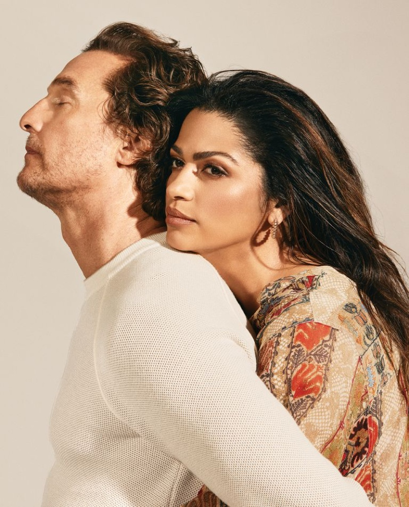 Matthew McConaughey and Camila Alves grace the pages of Town & Country.