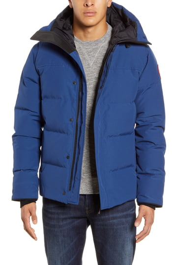 Men's Canada Goose 'Macmillan' Slim Fit Hooded Parka, Size X-Large - Blue