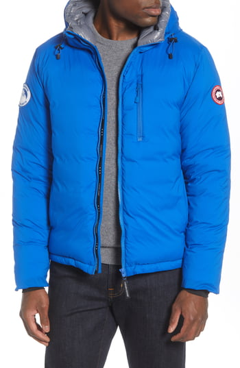 Men's Canada Goose Pbi Lodge Slim Fit Packable 750 Fill Power Down Hooded Jacket, Size Small - Blue