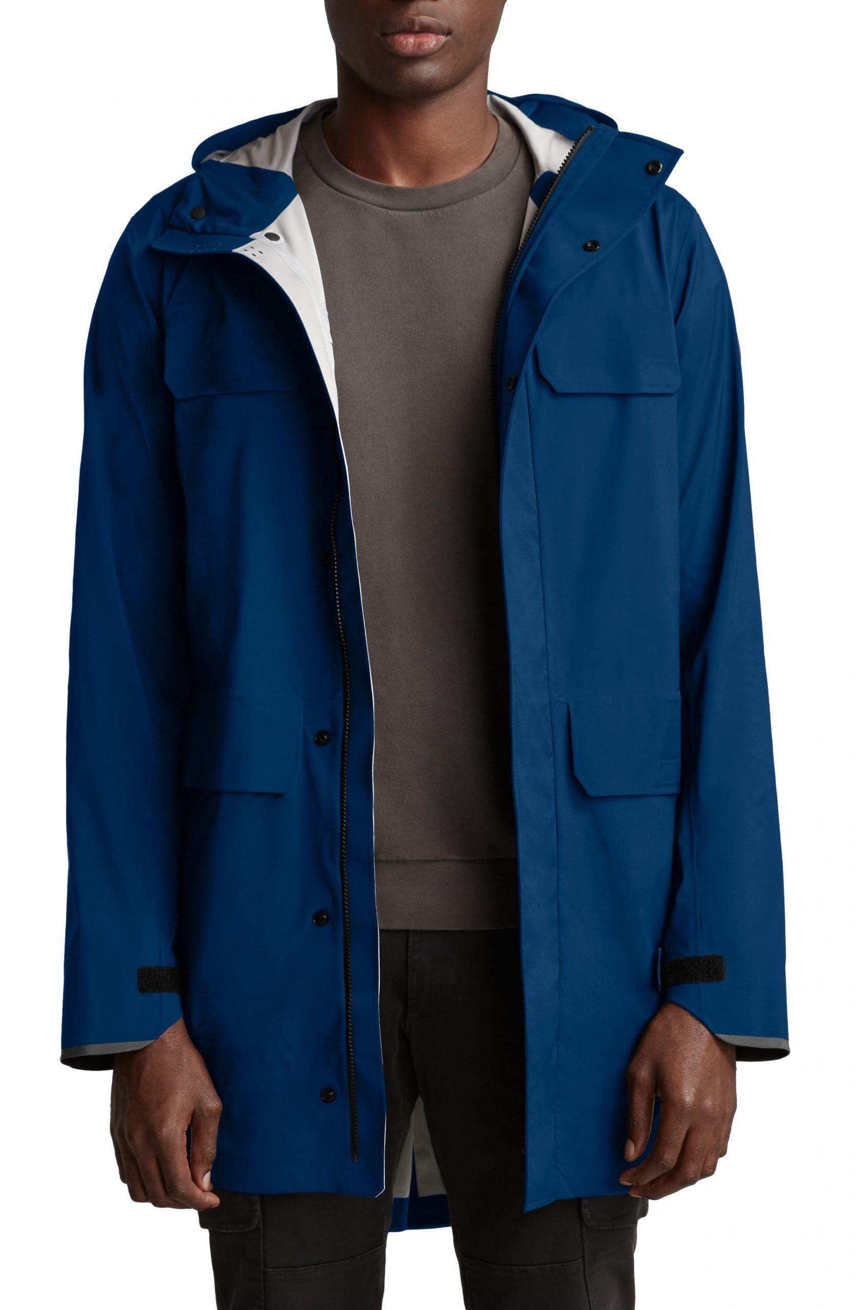 Men's Canada Goose Seawolf Packable Waterproof Jacket, Size Medium - Blue