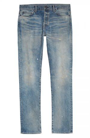 Men's John Elliott The Cast 2 Slim Fit Jeans, Size 29 - Blue