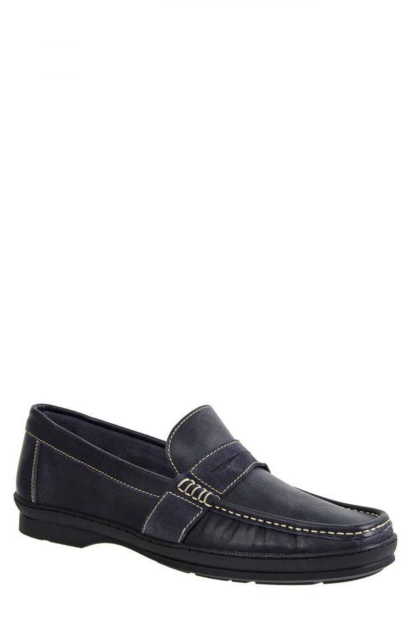 Men's Sandro Moscoloni Reid Penny Loafer, Size 7.5 D - Blue