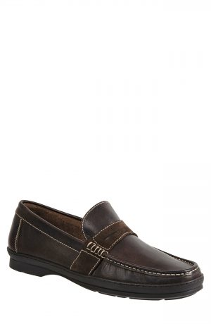 Men's Sandro Moscoloni Reid Penny Loafer, Size 7.5 D - Brown