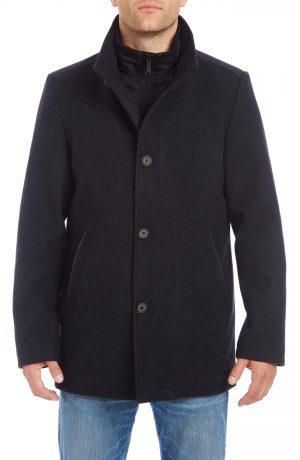 Men's Vince Camuto Short Wool Blend Car Coat, Size Medium - Grey