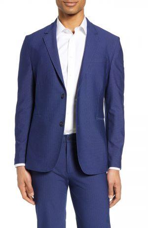 Men's Vince Camuto Slim Fit Performance Mesh Sport Coat, Size X-Small - Blue