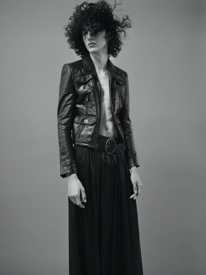 Rubens Stuns in Saint Laurent for Mojeh Magazine