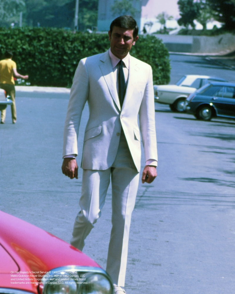 George Lazenby as James Bond in On Her Majesty's Secret Service | Photo courtesy of Orlebar Brown