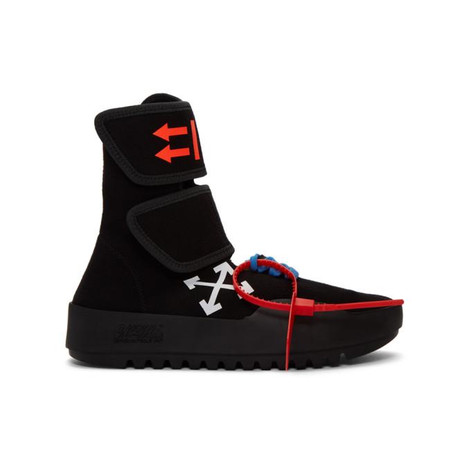 Black Moto Wrap High-Top Sneakers