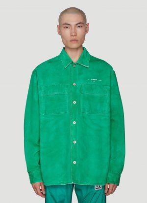 Off-White Denim Arrow Shirt in Green size S