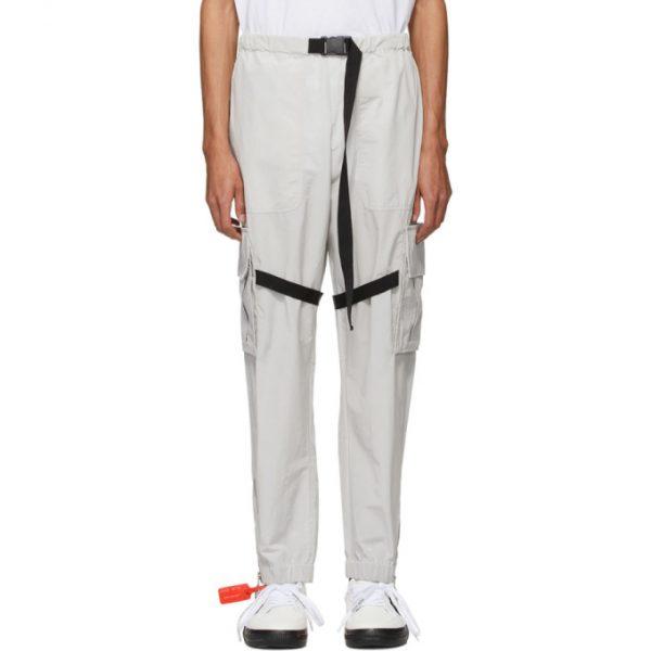 Off-White Grey Nylon Cargo Pants
