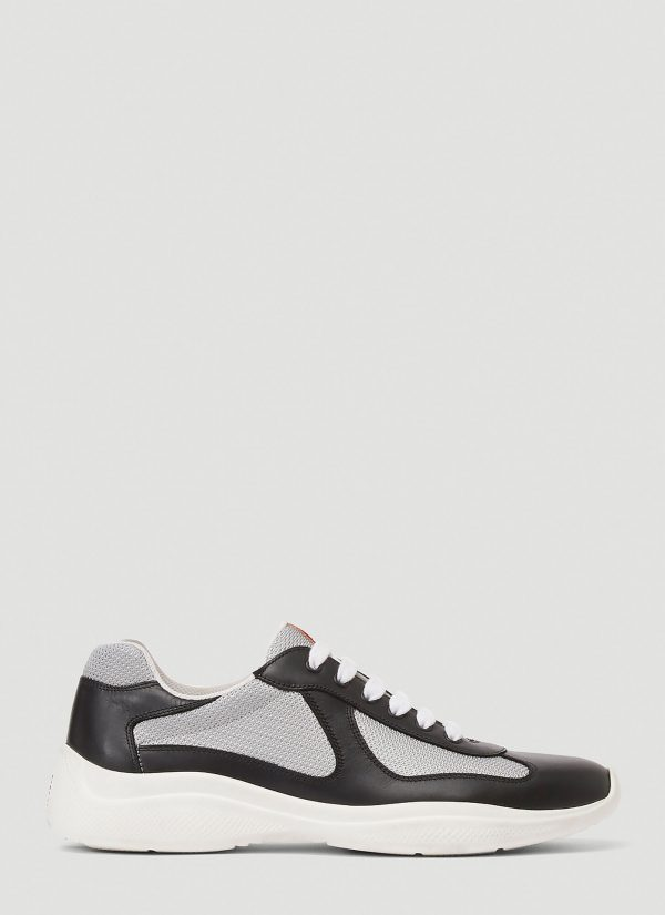 Prada Americas Cup Lace-Up Sneakers in Black size UK - 11