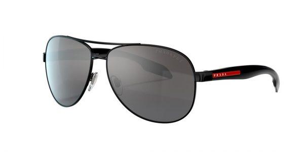 Prada Linea Rossa Man PS 53PS - Frame color: Black, Lens color: Grey-Black, Size 62-14/135