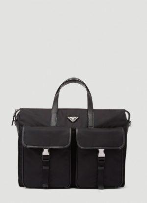 Prada Nylon Briefcase in Black size One Size