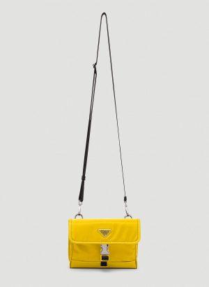 Prada Nylon Crossbody Bag in Yellow size One Size