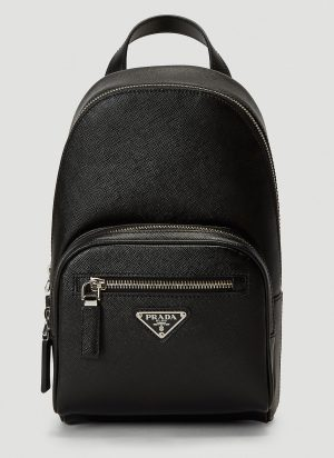 Prada Textured Backpack in Black size One Size