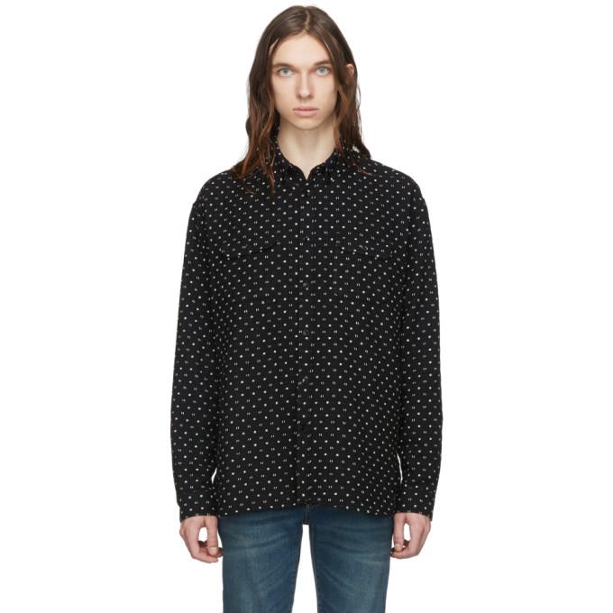 Saint Laurent Black Jacquard Guillemets Shirt