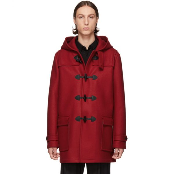 Saint Laurent Red Duffle Coat