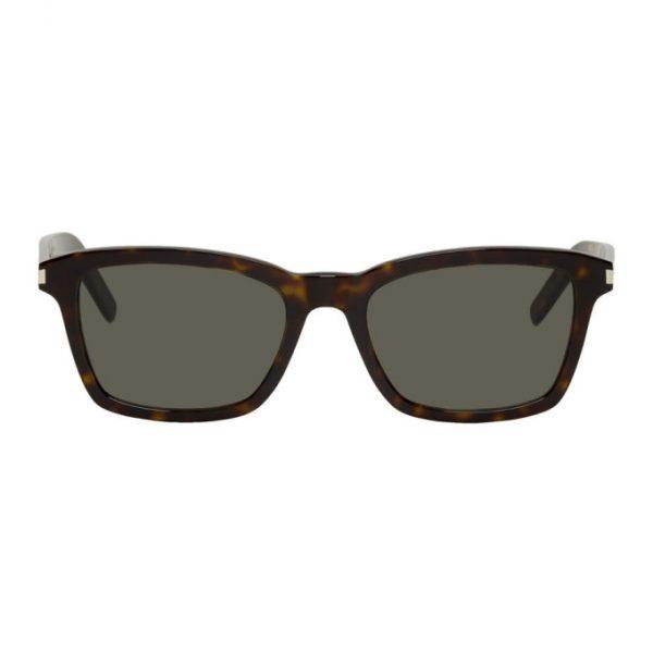 Saint Laurent Tortoiseshell SL 283 Slim Sunglasses