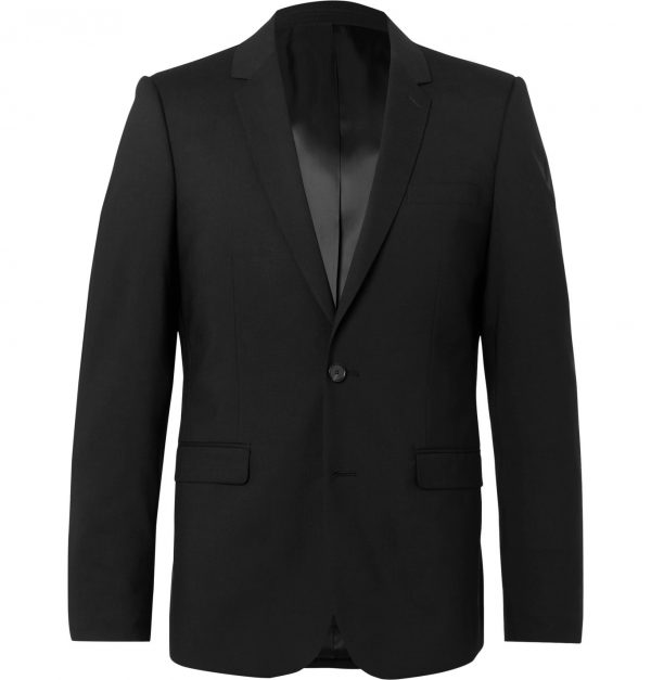 Sandro - Black Slim-Fit Wool-Blend Suit Jacket - Men - Black