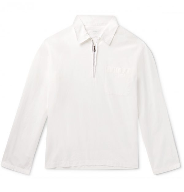 Sandro - Cotton-Ripstop Half-Zip Shirt - Men - White
