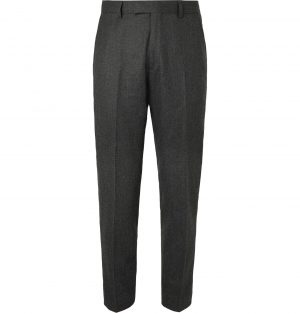Sandro - Grey Tapered Wool-Flannel Trousers - Men - Gray