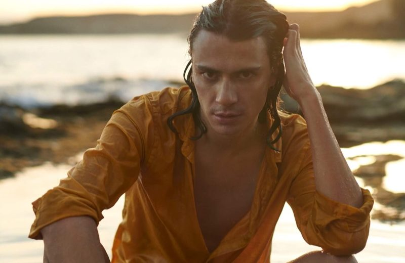 Coco Roussel stars in the fragrance campaign for Scotch & Soda Island Water.