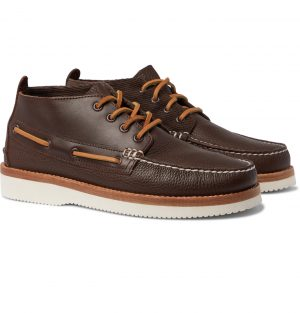 Sperry - Cloud Authentic Original Corduroy-Trimmed Leather Chukka Boots - Men - Brown