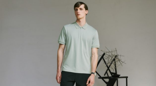 UNIQLO enlists model Joep van de Sande as the face of its Theory capsule collection.