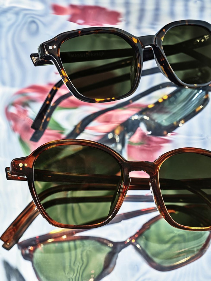 Embrace a classic motif with tortoise print sunglasses like Warby Parker's Landy and Britten styles.